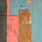 """""""Structure"""" encaustic and mixed media 16x20"""