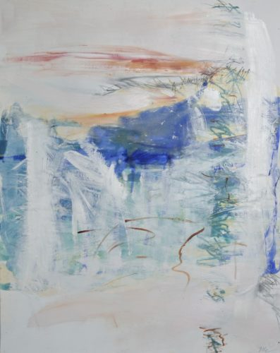Mapais no.2 encaustic and oil on paper 30x24
