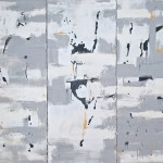"""""""Re Emerging""""  triptych mixed media  36 x 45"""