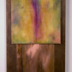 """Spring"", encaustic and copper on wood, 24x48"