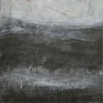 The Secret Life of Chalkboards encaustic and oil 34.5x25.5