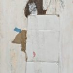 Chippewa, encaustic and mixed media collage, 23x22x2