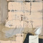 """""""Of Trees and Bees"""" Encaustic and oil on mixed papers and canvas, 40x16x1.5"""